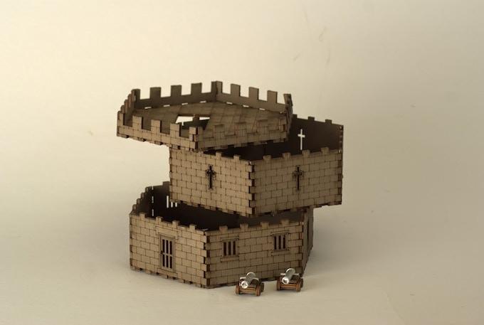 Martello Tower (taken apart to show structure)