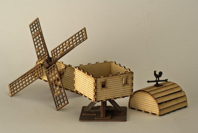 Windmill (Taken apart to show interior)