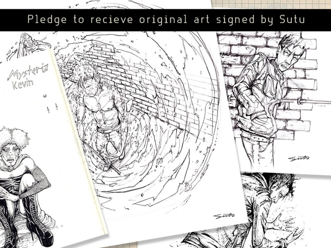 Original art will be varying sizes with a minimum size of 19cm X 24cm