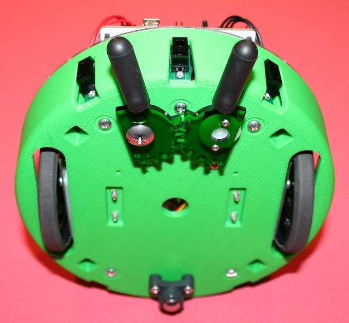 Optional servo gripper mechanism & (3) IR sensors