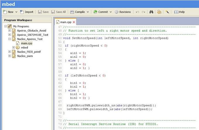 Sample mbed program snippet