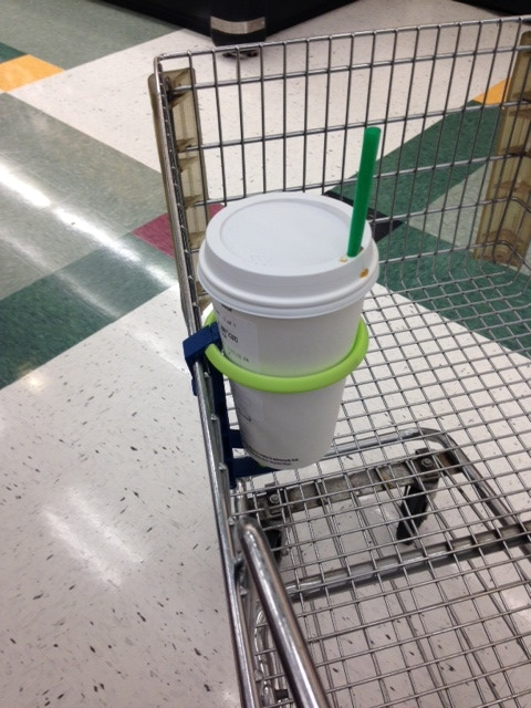Holds your drink while you shop!