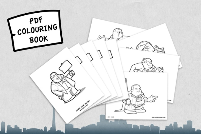PDF Colouring Book. Free for all backers!