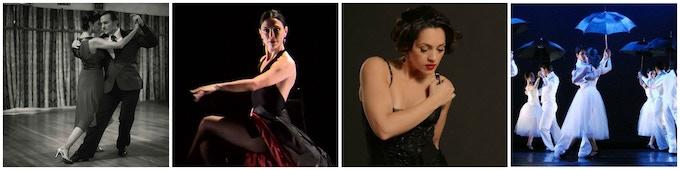 Dancers from Left to Right: Dardo Galletto & Karina Romero, Mariana Galassi, Mariana Parma, New Generation Dance Company