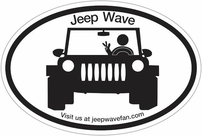 Jeep Wave Fan T-Shirts & Bumper Stickers by P.A.E Ackerman