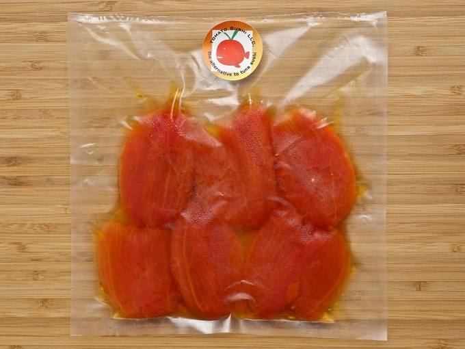 Enough Tomato Sushi Tuna for more than 15 pieces of nigiri!