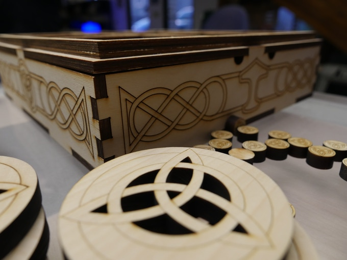 Close up of Box and Token details