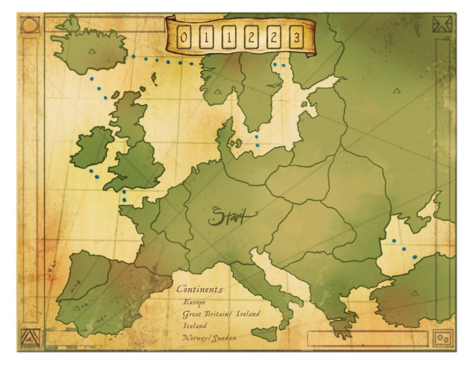 Europe Expansion board for the original Eight-Minute Empire.