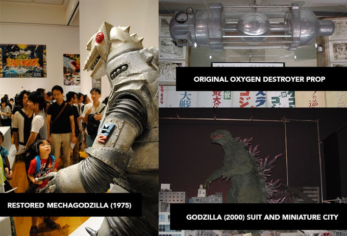 Previous displays of Godzilla props in Japan