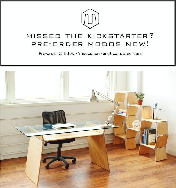 Pre-order Modos Furniture Here, https://modos.backerkit.com/preorders