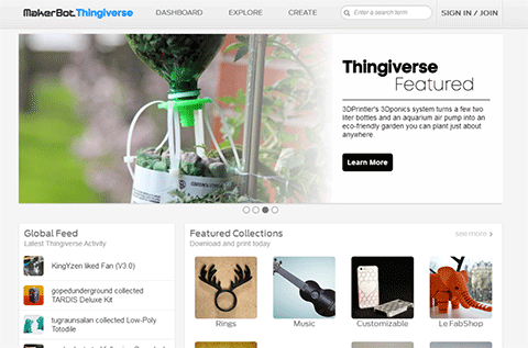 3Dponics featured on Thingiverse