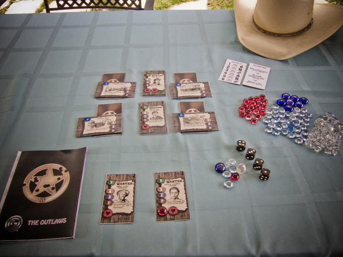 Image courtesy of Forrest - an Outlaws Print/Play play tester!