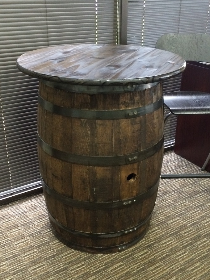 Bring home a piece of Yellow Rose with a custom barrel table.  This table is made by Owner Ryan Baird using one of our whiskey aging barrels.