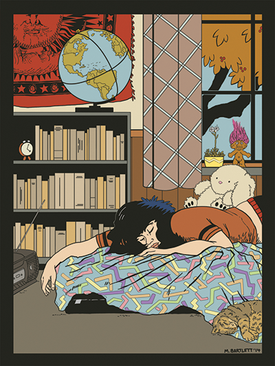 """Marigold Barlett's """"1990"""" postcard"""