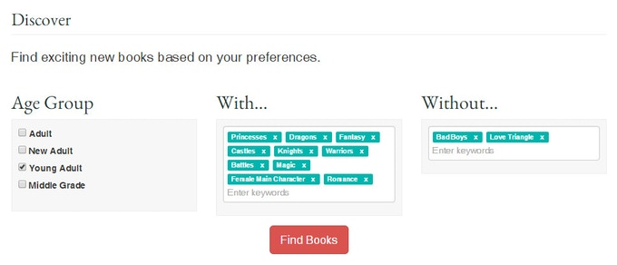 Discover books based on your theme preferences