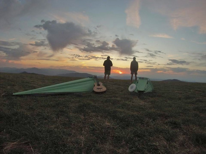 "The Alpine Hammock has been holding up well to relentless abuse on the Appalachian trail. Ethan and Hunter have done about 1000 miles in them so far without issue. Say ""Hey"" to Maine for us! Photo: Ethan Wiggans"