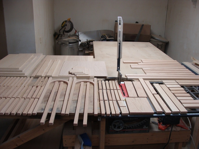 119 pieces of wood