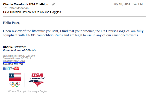 USAT Review On Course Goggles