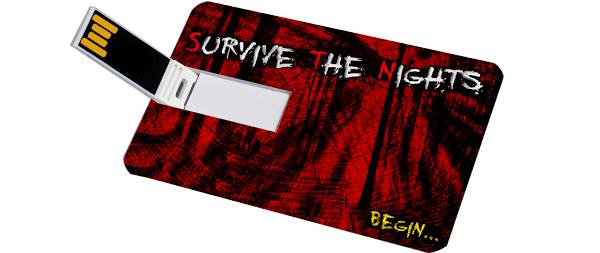 Custom printed reusable USB loaded up with the final game!