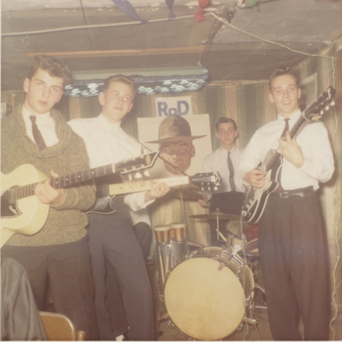 Terry and his high school basement band