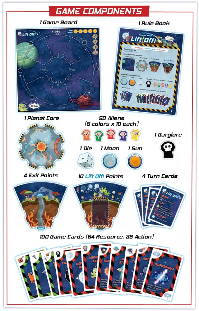 *Box will also contain an insert to hold the game pieces.            **Game contains 5 Turn Cards.