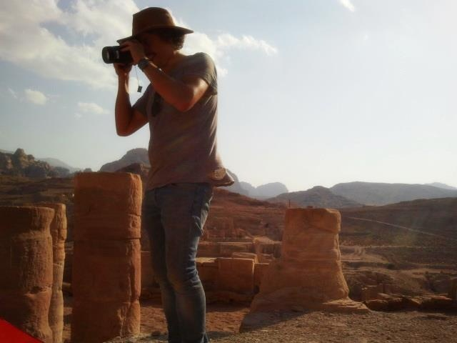 Vid imaging the Temple of the Winged Lions at Petra in Jordan.