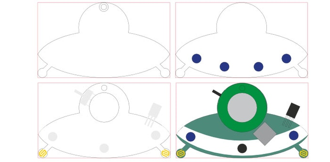 Finalised PCB shape and process flow