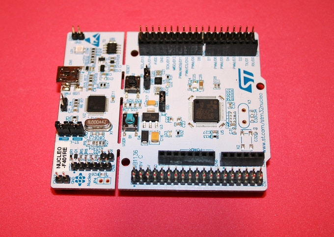 The Powerful Brain of Apeiros is a 32-Bit Nucleo F401RE by STMicroelectronics
