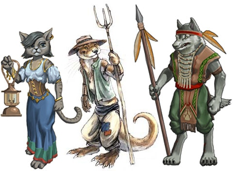 Different tribes of the Morph