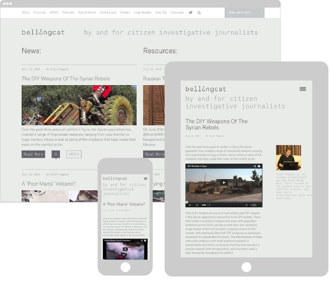 The bellingcat.com beta currently in development. Exclusive beta access available for £5.