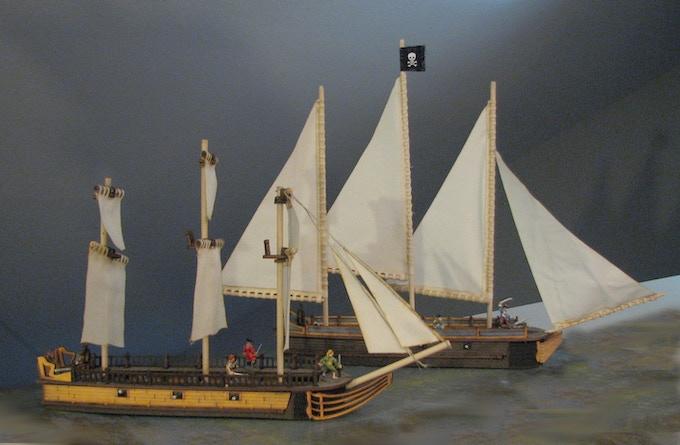 Medium Ship Pack (early-bird $135): La Belle plus HMS Drake