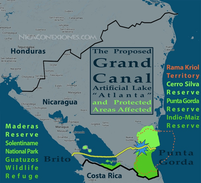 Proposed Canal Route and the Areas It Will Impact