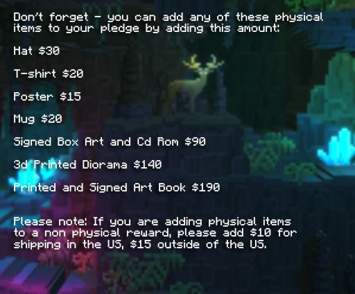 Items to add to your pledge!
