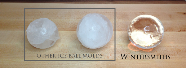the ice chest makes crystal clear ice cubes or spheres by