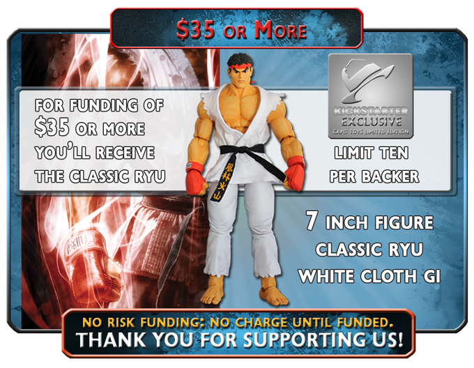 Receive The Classic White Gi Ryu, a Capo Toys, Kickstarter Exclusive