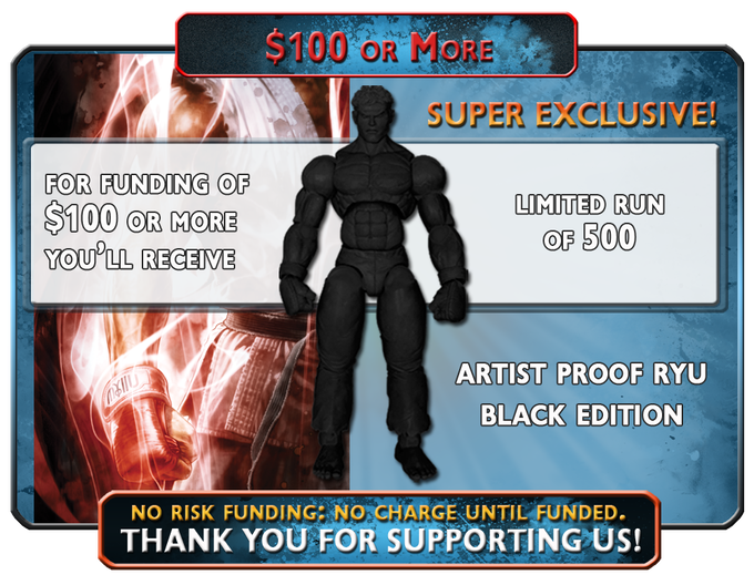 While supplies last, Capo Toys Super Kickstarter Exclusive, Artist Proof Ryu Black Limited Edition 500
