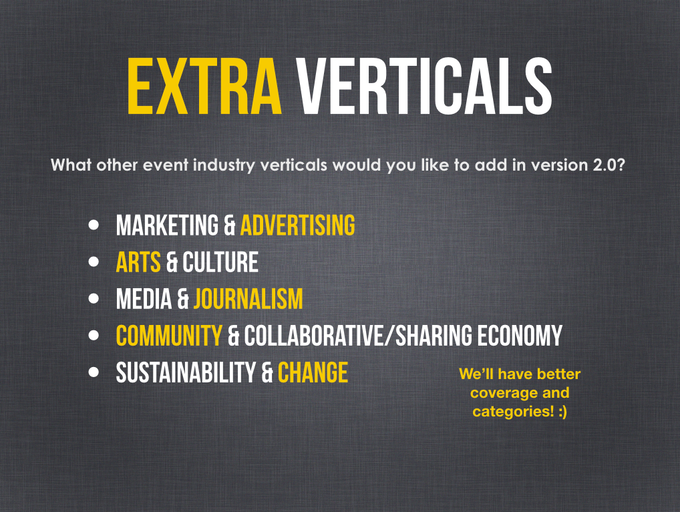 Industry verticals requested by you