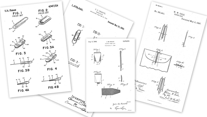 Expired paper clip patents