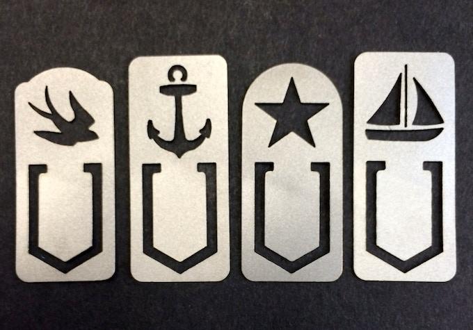 """Titanium """"Sailor"""" clips"""