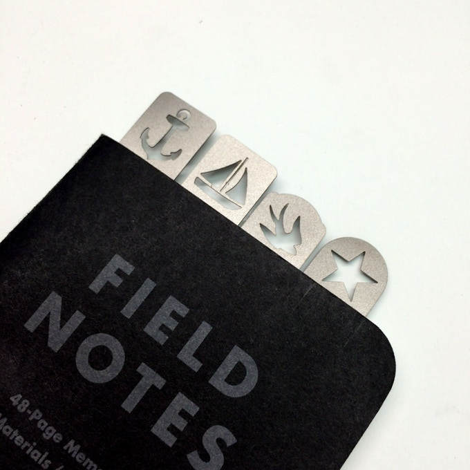 Page marks used on Field Notes memo book.