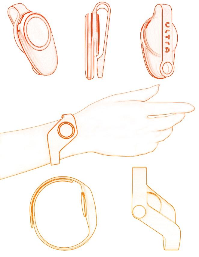 Sketched designs of Violet accessories