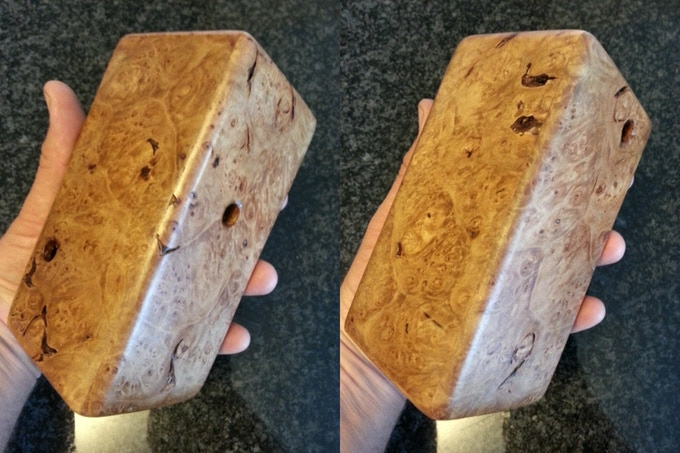 Stretched Maze Puzzle In Maple Burl.