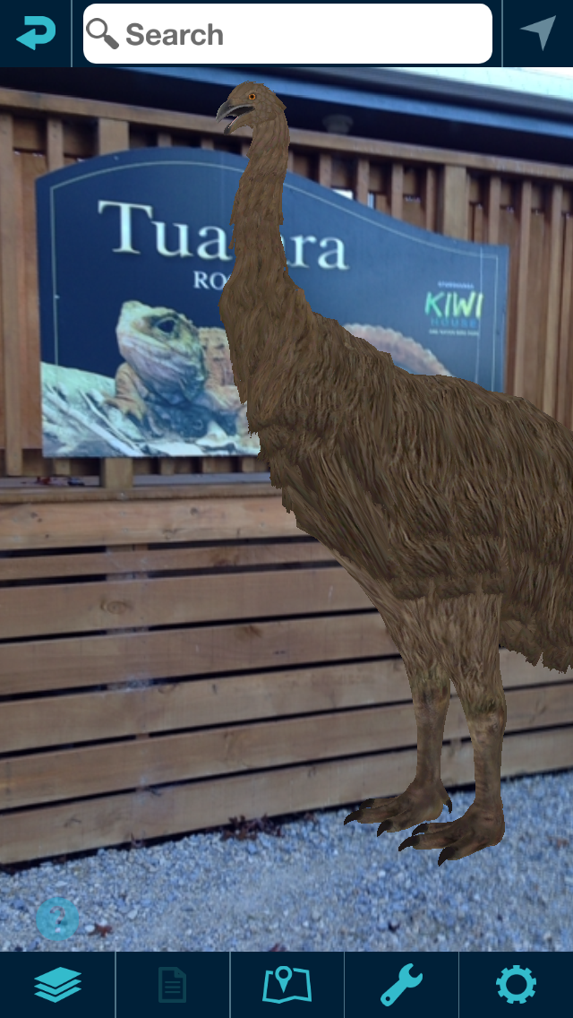 Our 1st Moa in the Rotary Park in Otorohanga, New Zealand