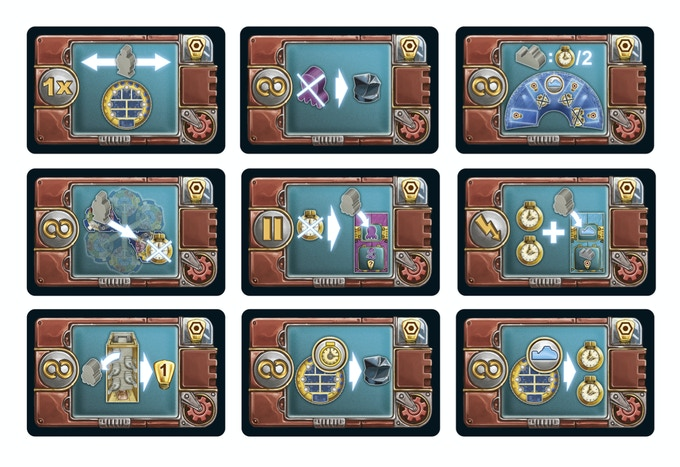 Some card samples from AquaSphere.