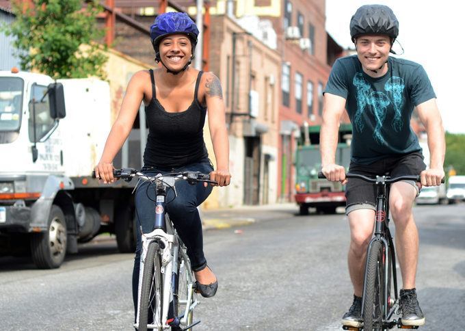MindRider cyclists Yapah Berry and Jake Wright. Photo by Ben Tudhope.