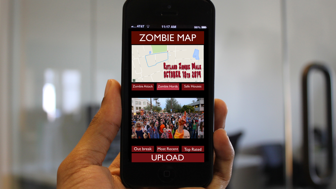Here is an example of what the Zombie Walk routes might look like.