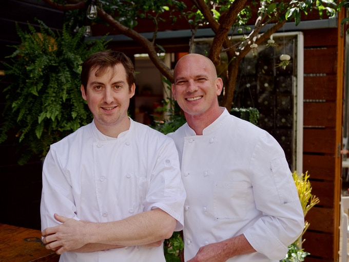 Brian Doyle (left) and Chef James Corwell, CMC (right)