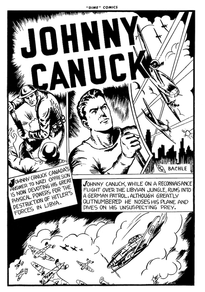 The very first page of Johnny Canuck! Read more on Facebook or Twitter!