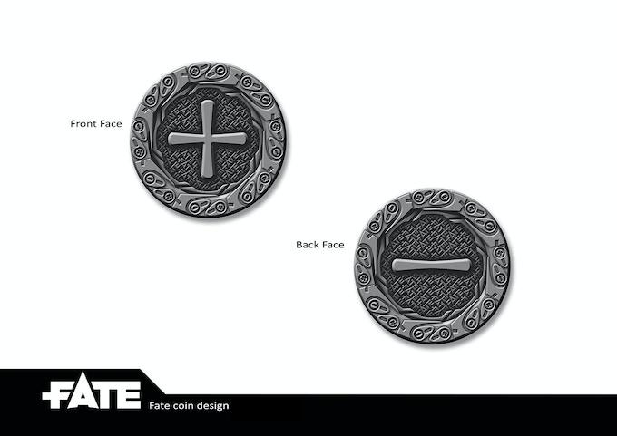 Plus/Minus bonus coin design
