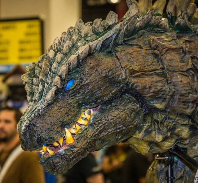 Head profile of the Godzilla suit. Photo by Ed Voorhees.